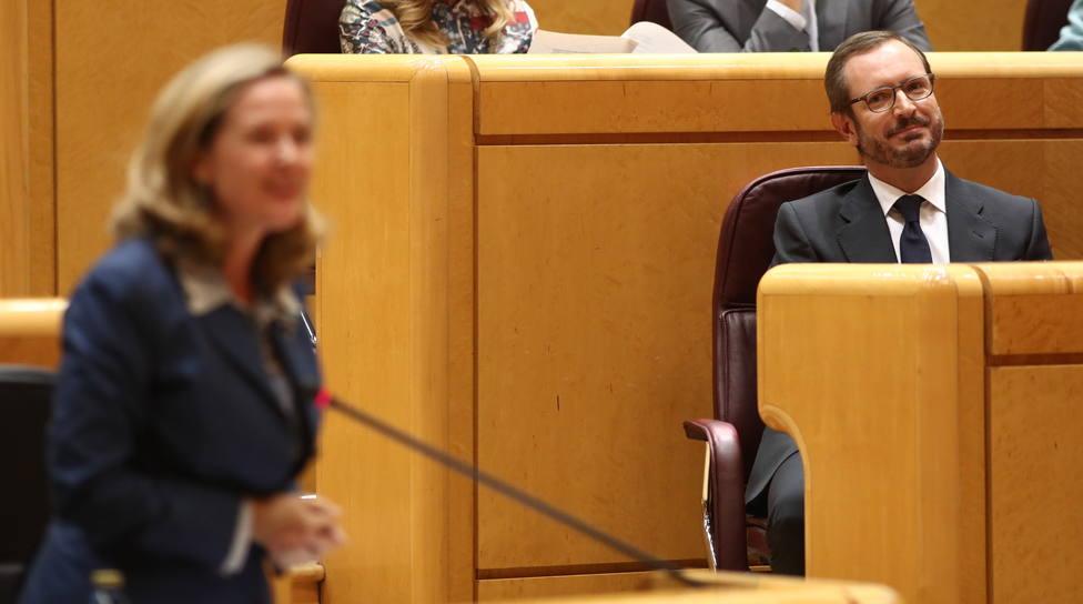 Maroto (PP) se estrena en el Senado acusando a Sánchez del bloqueo y de pagarse la precampaña con dinero público