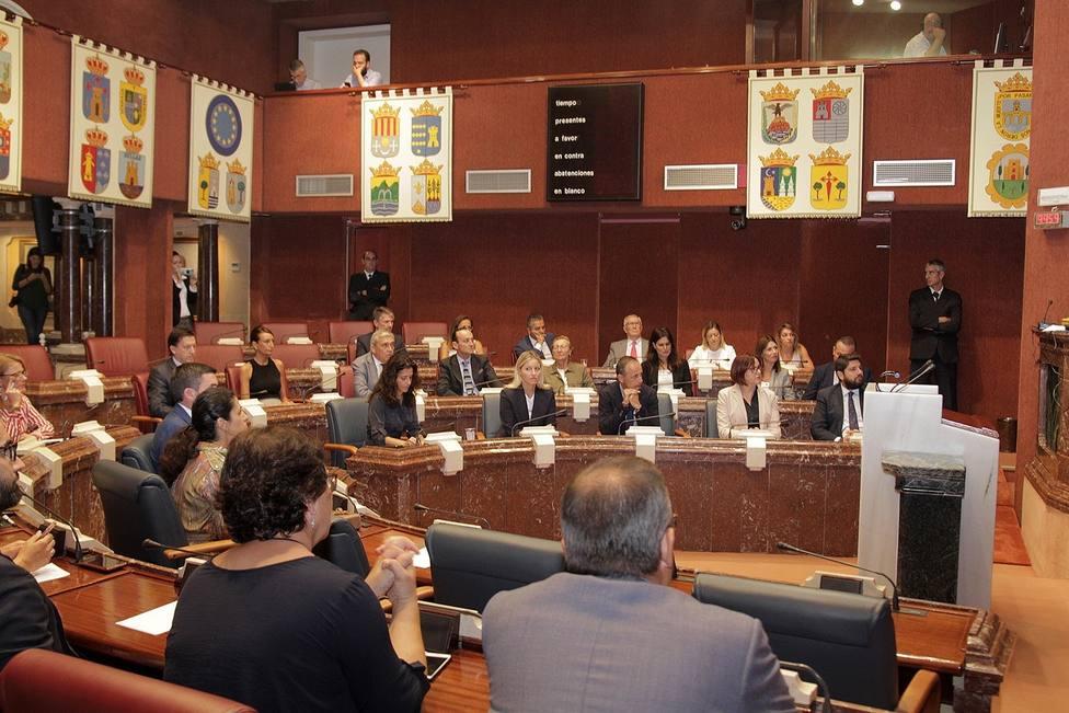 La Asamblea aprueba una declaración institucional para pedir al Gobierno la Declaración de Zona Catatrófica