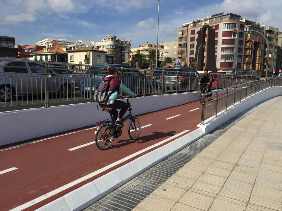 Carril bici en Las Alcaravaneras