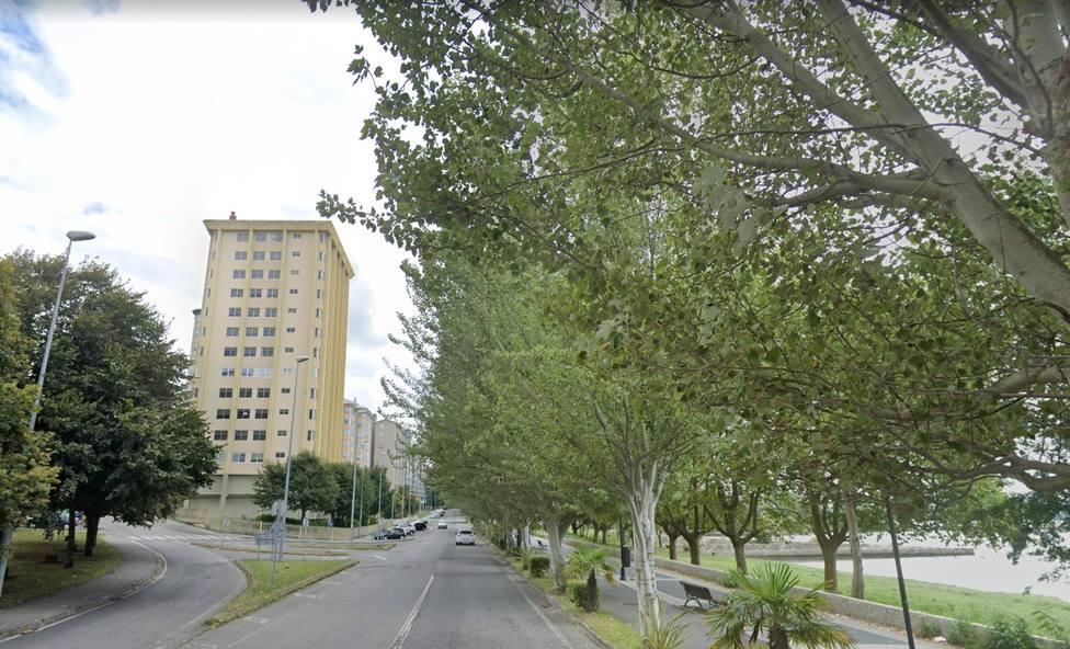 Foto de archivo de la avenida do Mar, en Caranza
