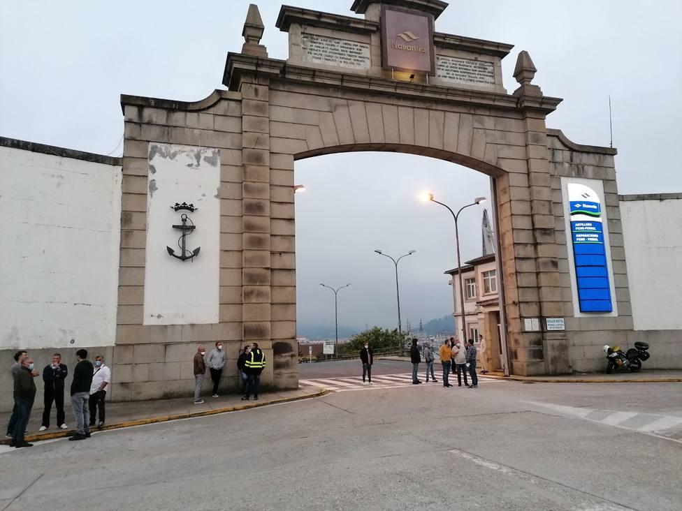 Foto de archivo de la entrada principal de Navantia Ferrol
