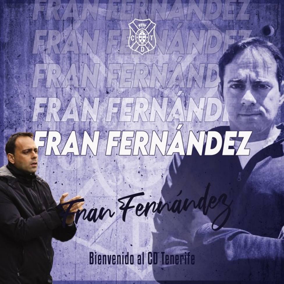 El Tenerife anuncia la contratación de Fran Fernández como entrenador