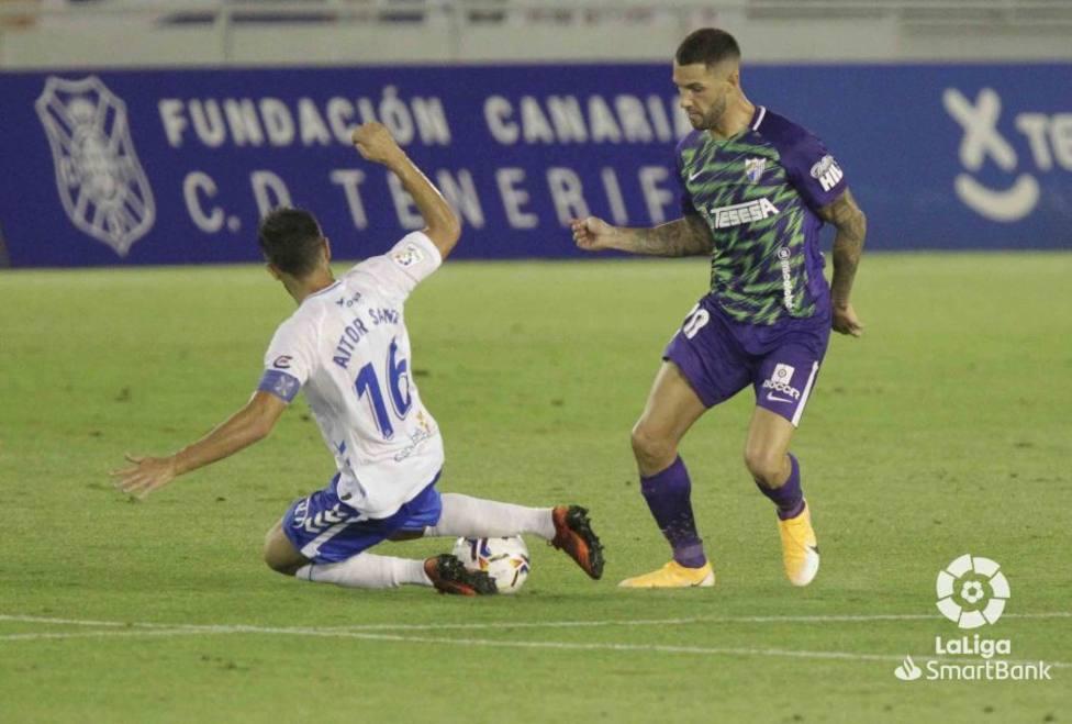 Tete Morente lo intentó fue el más incisivo en el ataque del Málaga