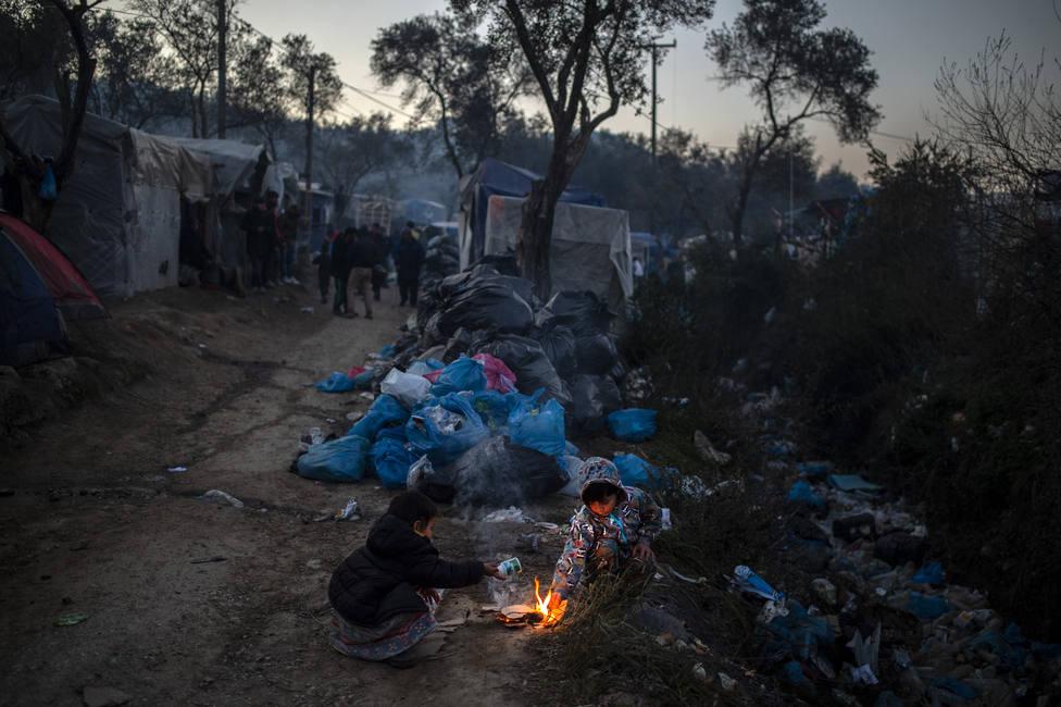 Refugee camp in Lesbos