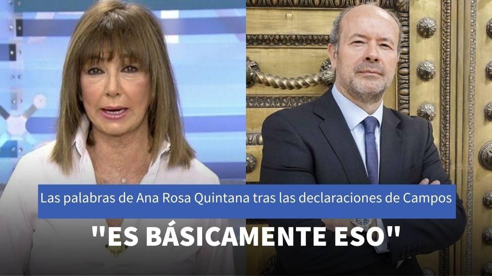La reacción de Ana Rosa Quintana sobre la ausencia del Rey en Cataluña por el veto del Gobierno de Sánchez