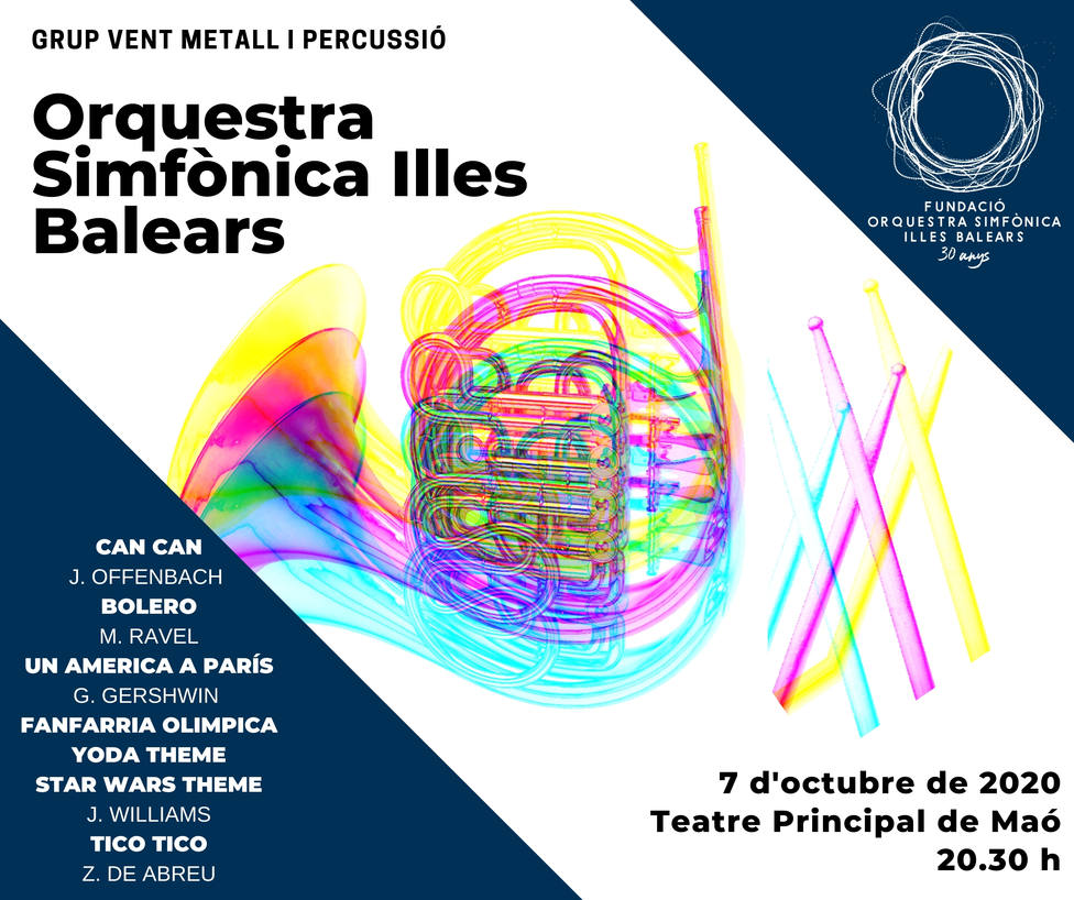 La Orquesta Sinfónica Islas Baleares ofrecerá un concierto extraordinario en el Teatro Principal de Maó