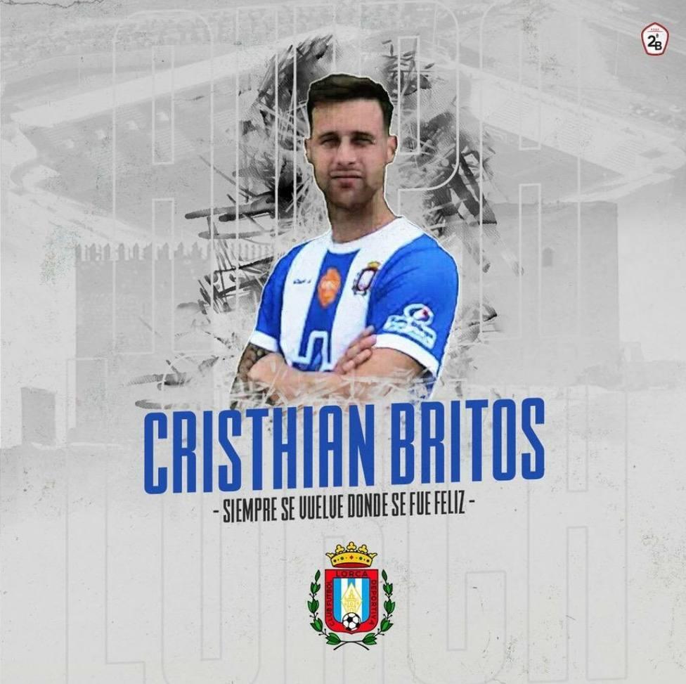 Cristian Britos nuevo jugador del CF Lorca Deportiva