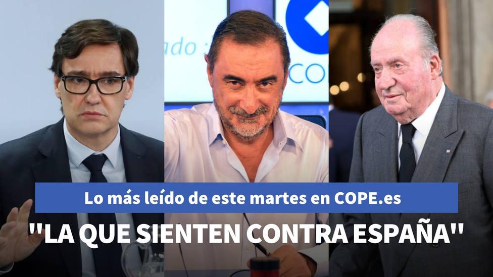 La aplaudida defensa de Carlos Herrera a favor de Don Juan Carlos I, entre lo más leído de hoy