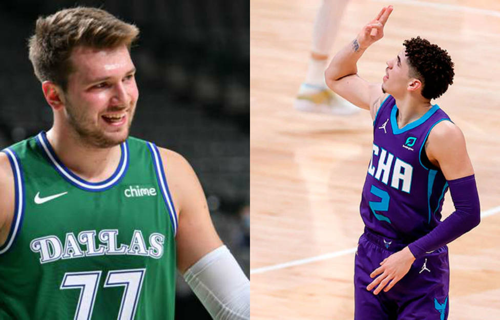 Luka Doncic y LaMelo Ball