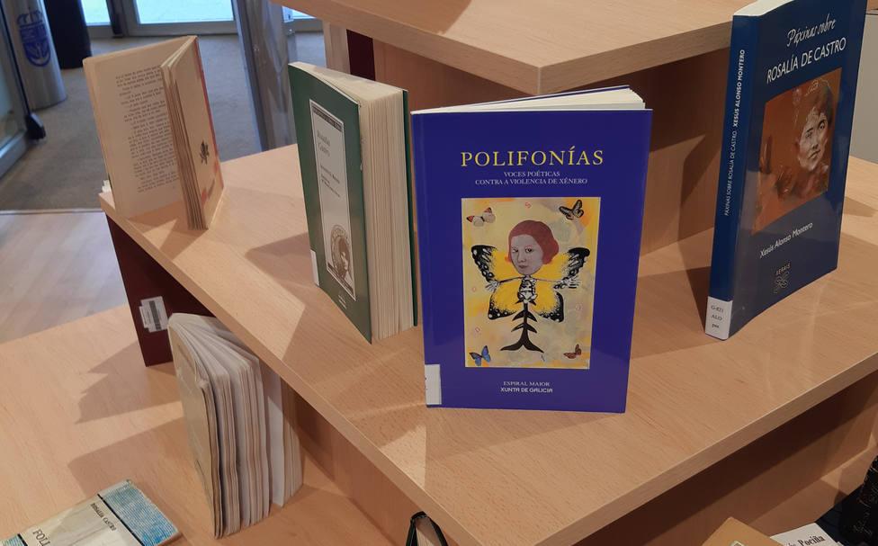 Exposición de libros en la Bibliioteca de Narón - FOTO: Concello de Narón