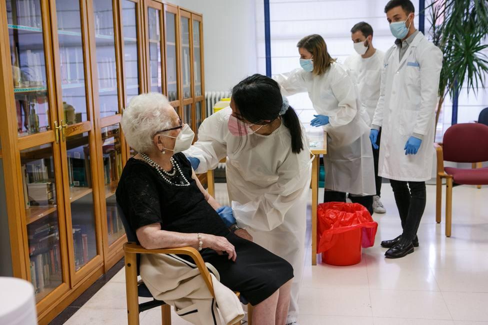Primeras vacunas administradas en las residencias de la tercera edad de Soria en diciembre