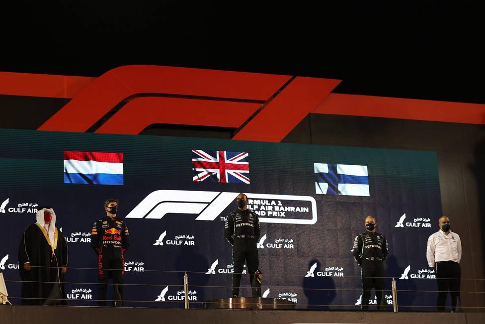 Podio GP Bahrein