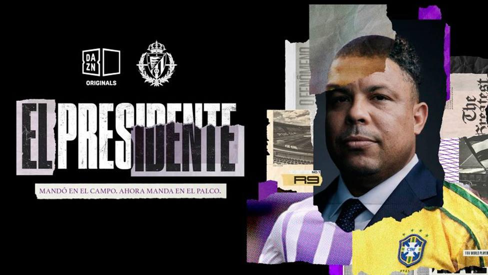 Cartel anunciador de El Presidente, la serie de Dazn sobre Ronaldo Nazario