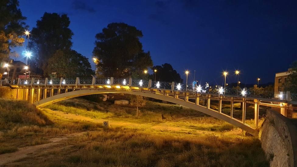 Lorca renueva la iluminación del Puente de La Torta deteriorada por actos vandálicos