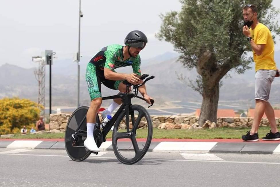 El ciclista del Brócoli Mecánico, Eloy Teruel, campeón de España Élite contrareloj