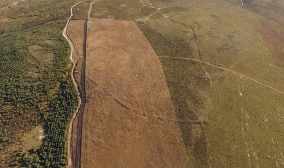 Una imagen del terreno en el que se ubicó el campamento romano