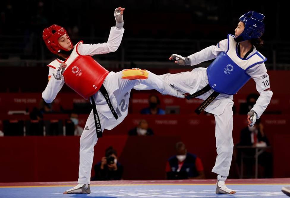 Imagen del combate de Adriana Cerezo