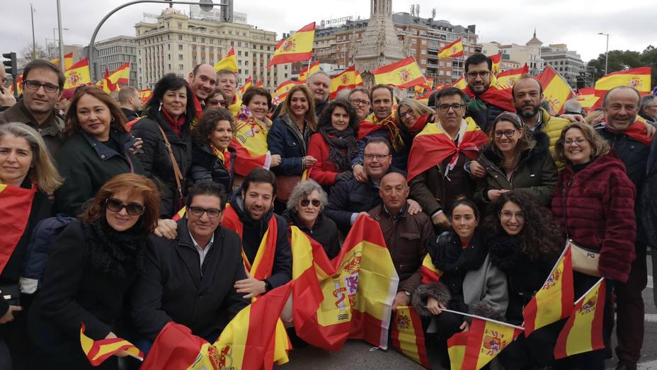 Pacenses en Madrid por la unidad de España