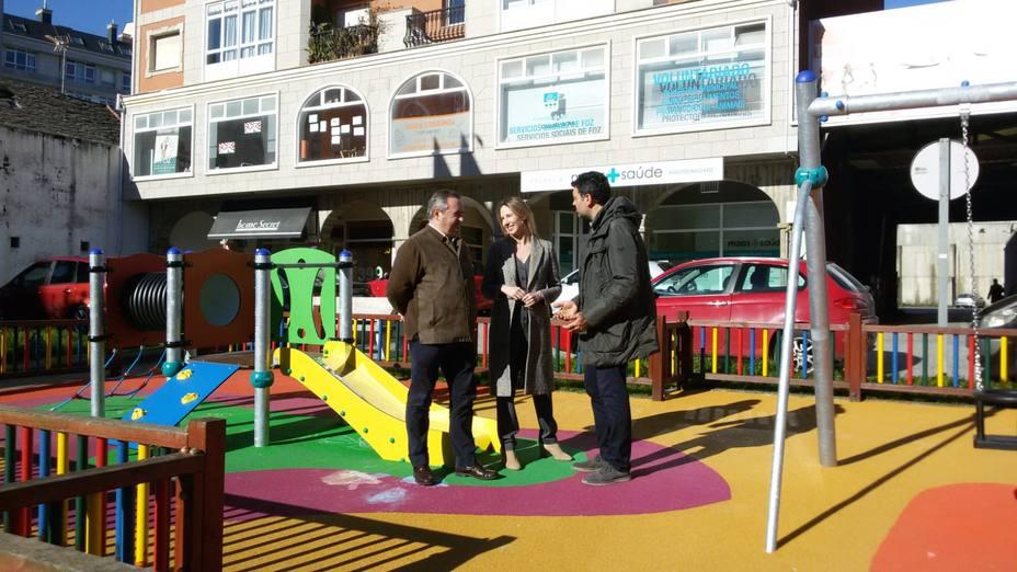 Javier Castiñeira en el parque inaugurado