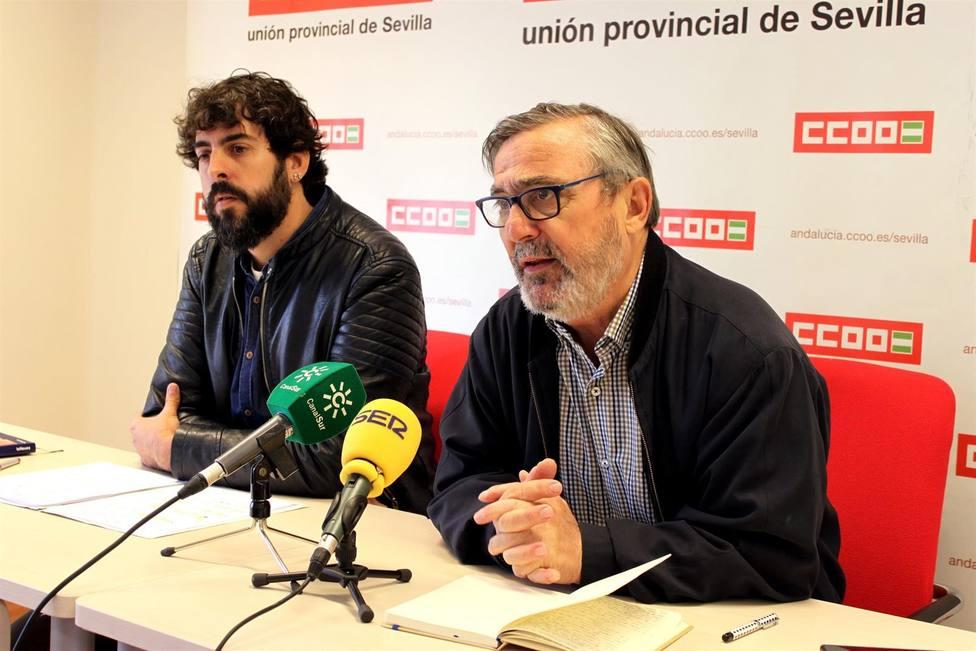 Alfonso Vidan , secretario genral de CCOO de Sevilla