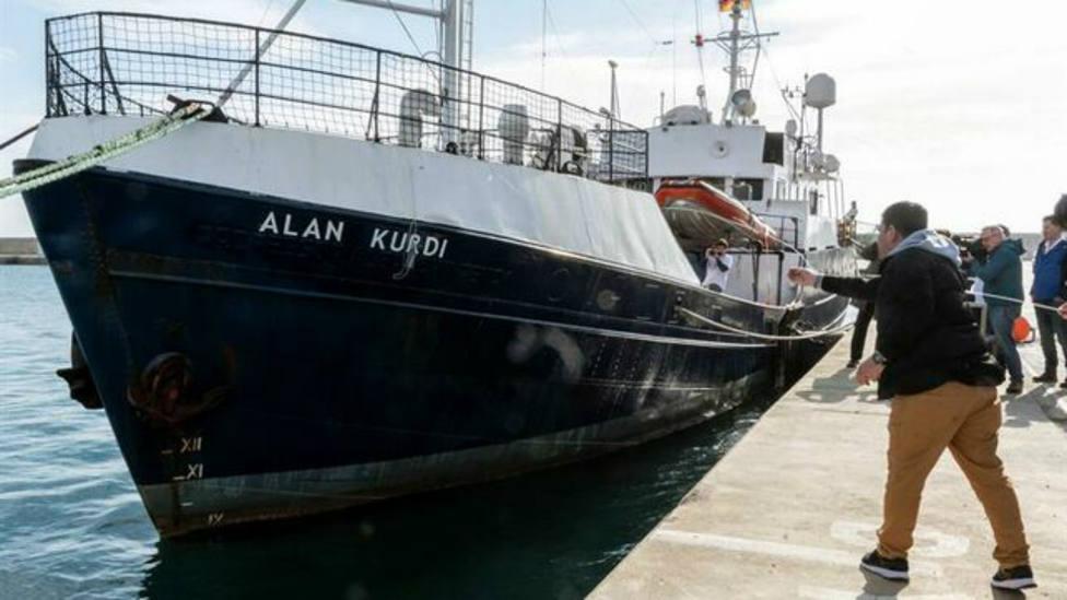 El barco Alan Kurdi que trabaja en el rescate de inmigrantes