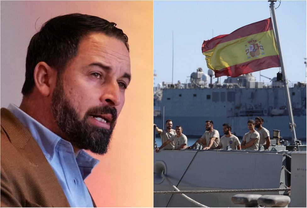 La contundente crítica de Abascal a Sánchez por enviar a la Armada a rescatar a los inmigrantes del Open Arms