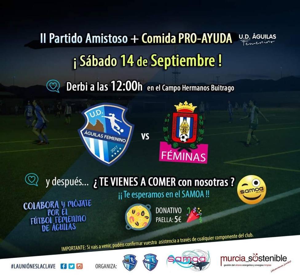 La UD Águilas jugará su segundo amistoso ante el filial del Lorca Féminas