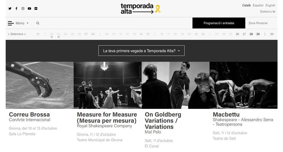 El festival de teatro catalán que presume de lazo amarillo financiado por el Ministerio de Cultura