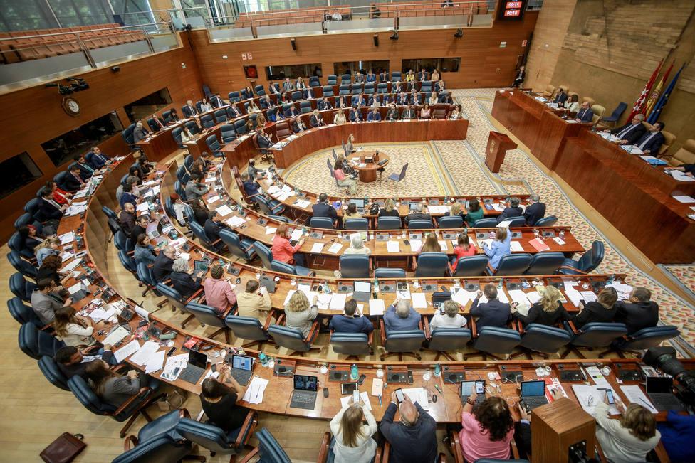 Vox, PP y Cs piden en la Asamblea de Madrid ilegalizar partidos separatistas que atenten contra la unidad de España
