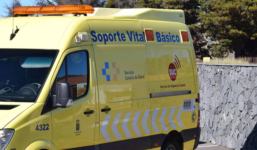 Tuvo que acudir una ambulancia del SUC