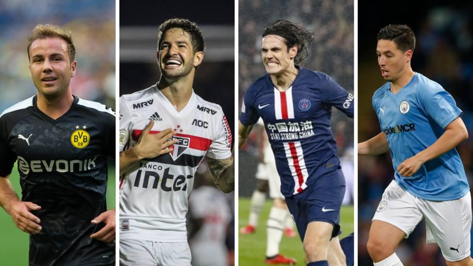 Los 10 mejores jugadores libres del mercado de fichajes; Cavani, Gotze o Mandzukic entre ellos