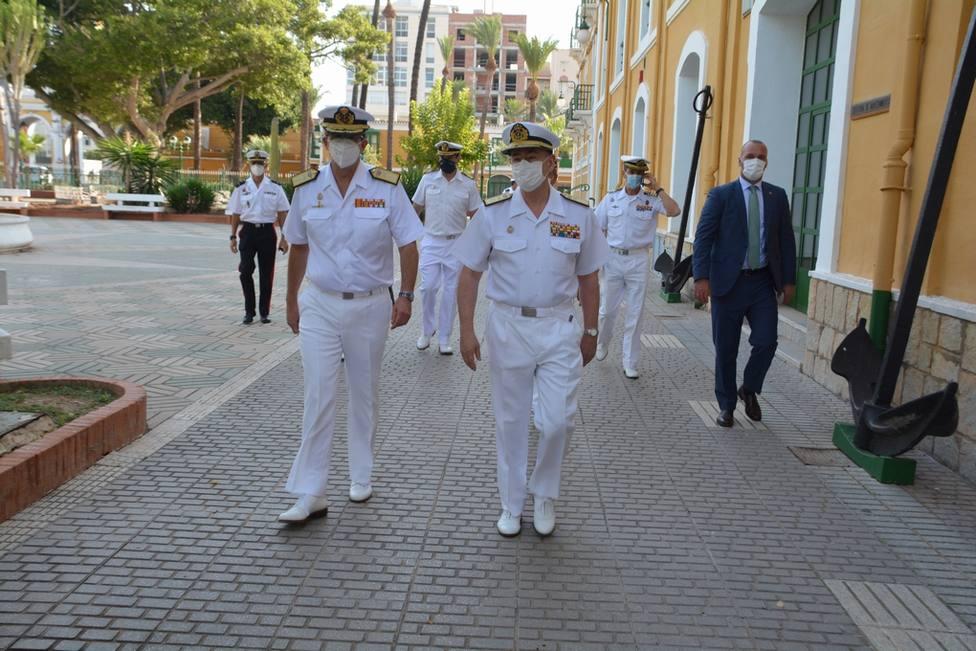 AJEMA visita unidades de la Armada en Cartagena