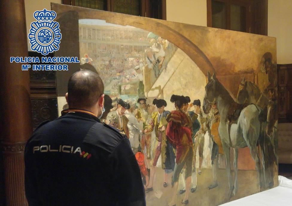 Antes de la corrida cuadro de Sorolla recuperado por la Policía en Bruselas