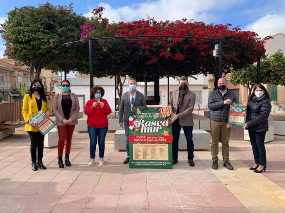 """Comerciantes y Empresarios del Campo de Murcia arrancan la campaña """"Rascamur"""""""