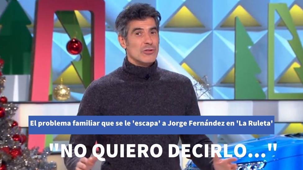 """El problema familiar que se le escapa a Jorge Fernández en La Ruleta de la Suerte: """"No quiero decirlo..."""