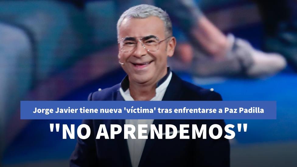 Jorge Javier Vázquez tiene nueva víctima tras su enfrentamiento con Paz Padilla: Si es que no aprendemos