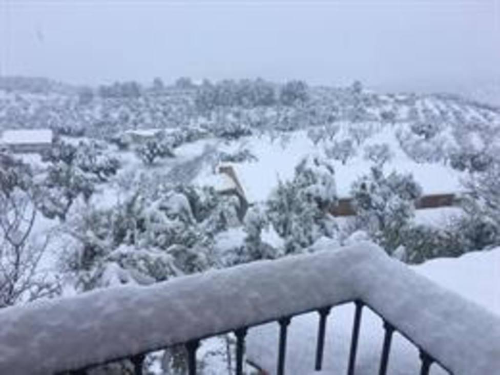 El municipio de Horta de Sant Joan (Tarragona) tras las nevadas del temporal Filomena