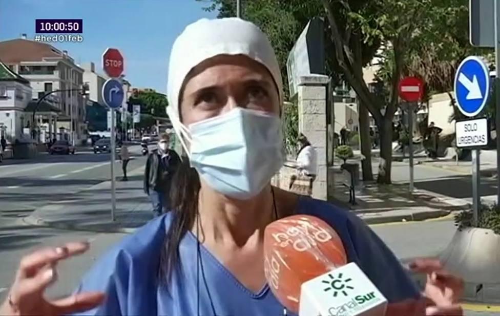 Una enfermera cuenta entre lágrimas la dramática realidad que vive en el hospital: No le veo fin a esto