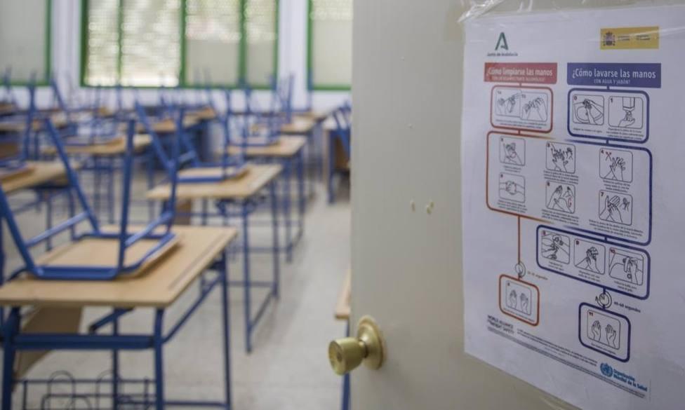 Aula confinada en un centro escolar asturiano