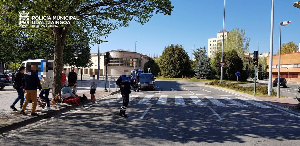 Sucesos.- Herido un chico de 14 años al sufrir un accidente cuando circulaba en bici en Pamplona