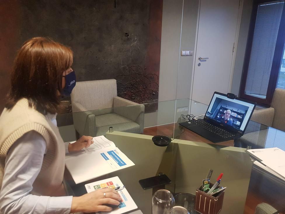 Reunión telemática entre la conselleira de Medio Ambiente y el alcalde de A Gudiña