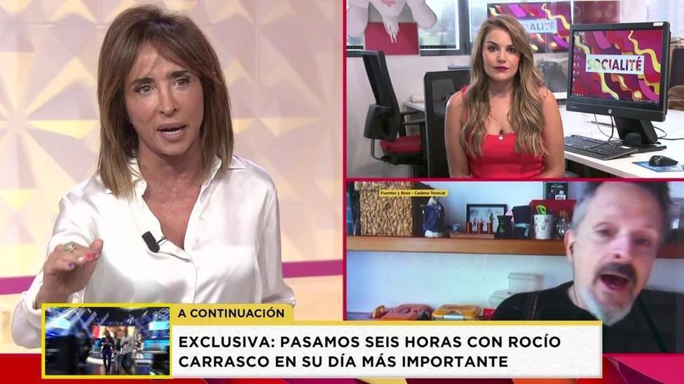 María Patiño no se corta sobre el papel de Évole durante la entrevista a Miguel Bosé: Me estaba poniendo...