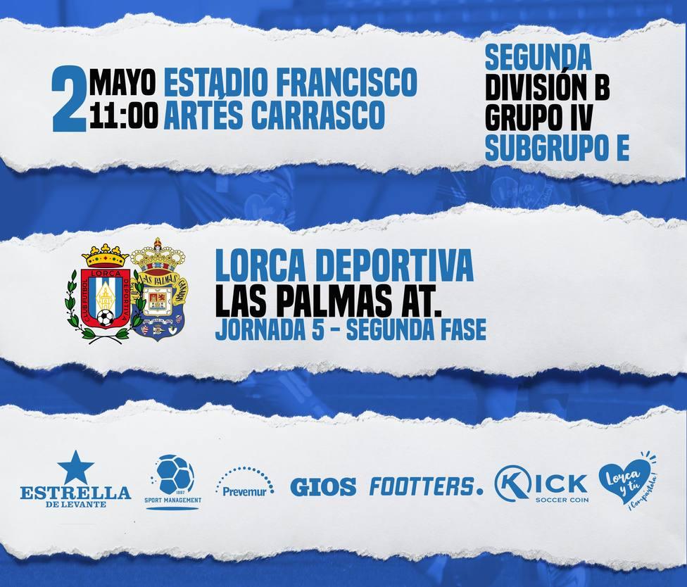 CF Lorca Deportiva - Las Palmas Atlético, domingo 11.00 horas