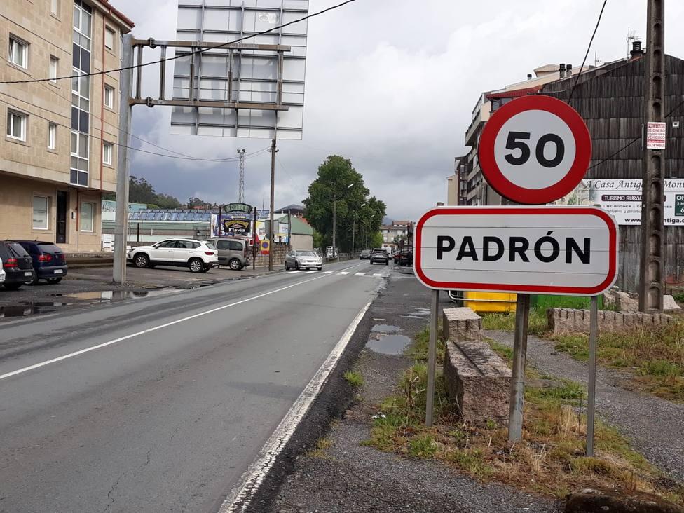Imagen de una de las entradas a Padrón (A Coruña)