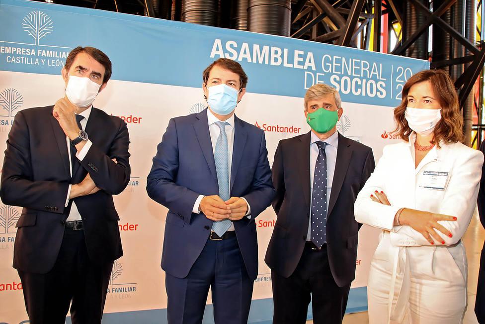 El presidente de la Junta de Castilla y León, Alfonso Fernández Mañueco visita la asamblea general de la a asociación Empresa Familiar