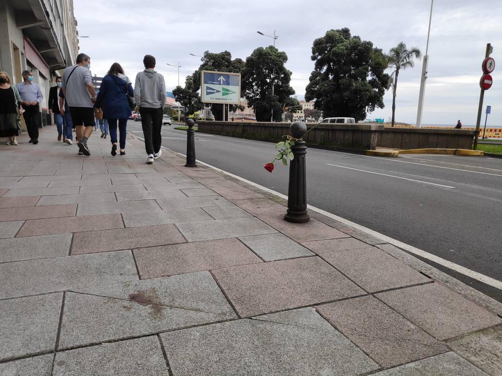 Lugar donde mataron a Samuel Luiz en A Coruña