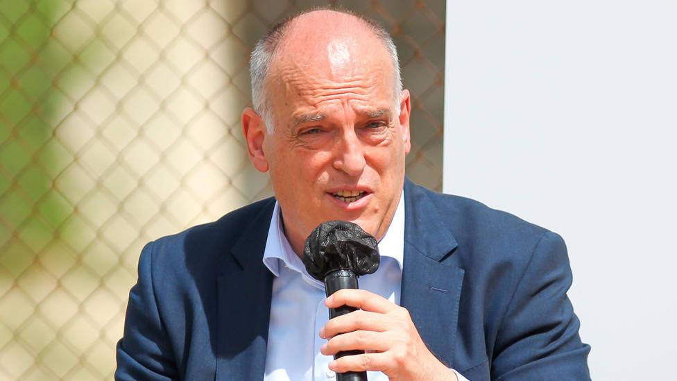 Javier Tebas, presidente de LaLiga, durante un acto institucional. EUROPA PRESS