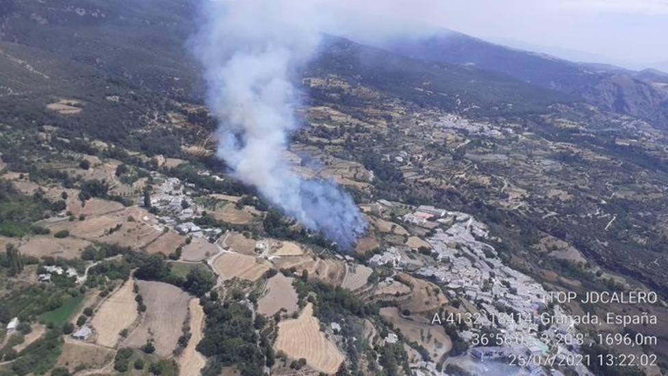 Estabilizado el incendio forestal de La Taha