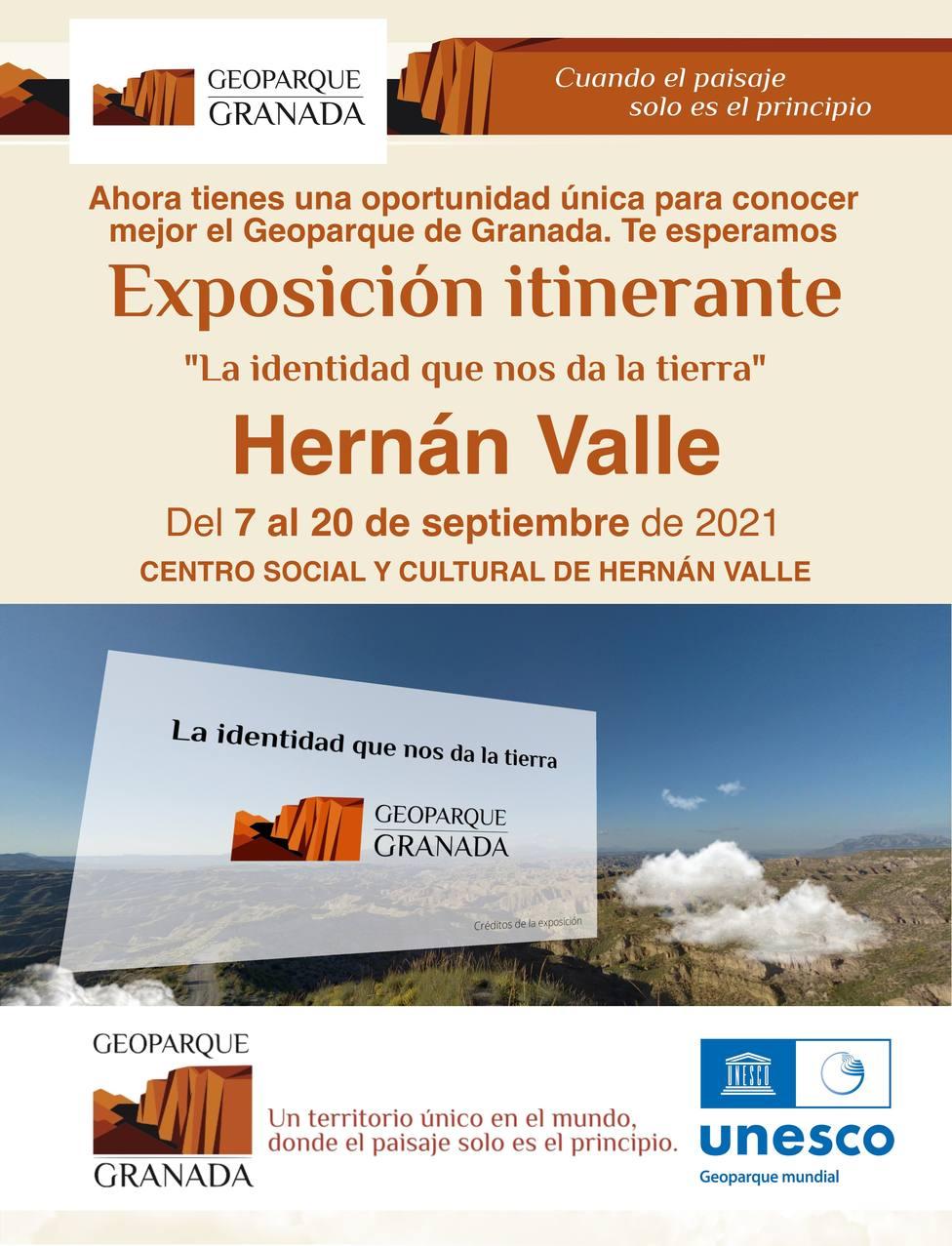 Cartel Geoparque Hernán Valle