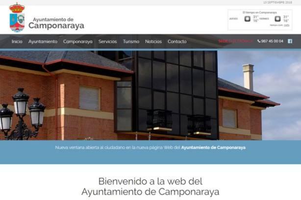 Camponaraya moderniza su página web municipal para adaptarla a todos los dispositivos